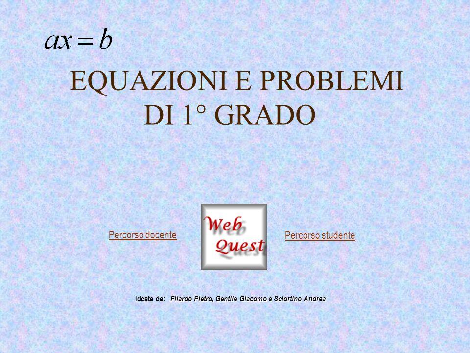 Esercizi proposti Risolvi le seguenti equazioni: Ritorna alla pagina precedente