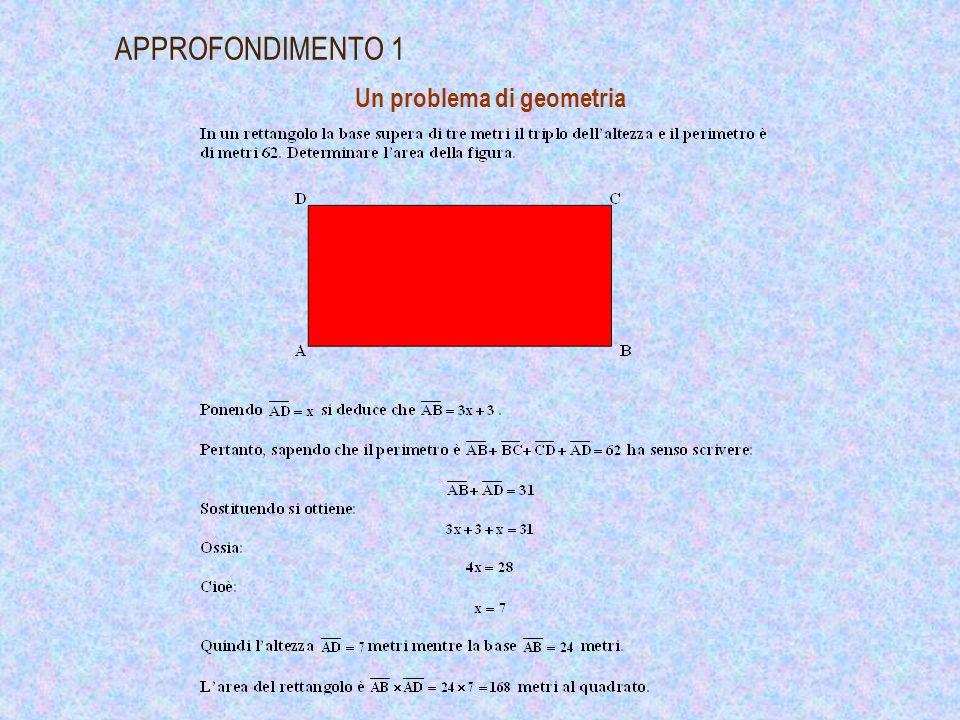 Interpretazione geometrica della soluzione di unequazione di primo grado APPROFONDIMENTO 2
