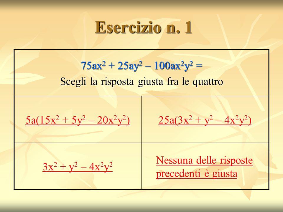 Esercizio n.1 Esercizio n.