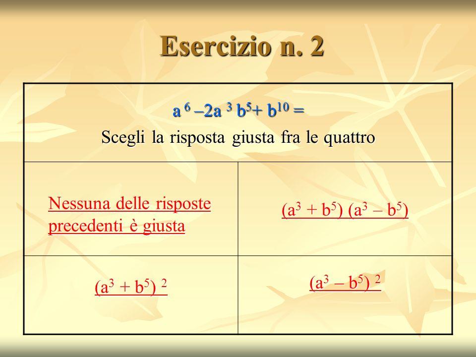 Esercizio n.2 Esercizio n.