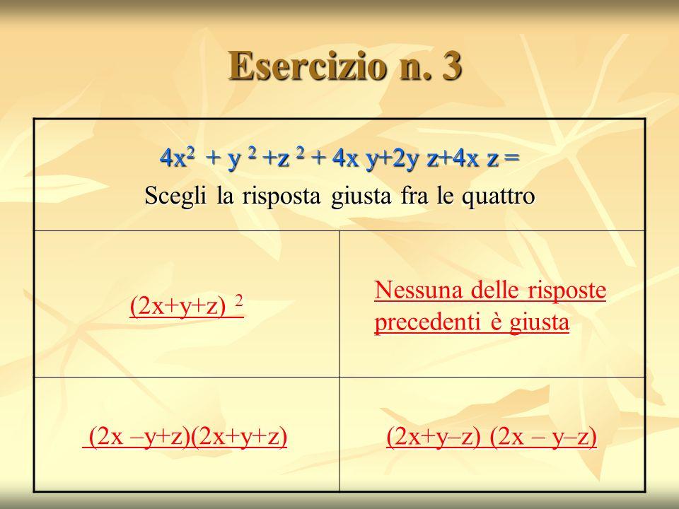 Esercizio n.3 Esercizio n.