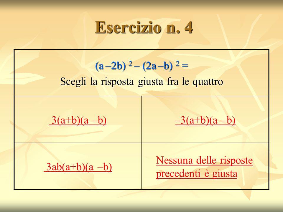 Esercizio n.4 Esercizio n.