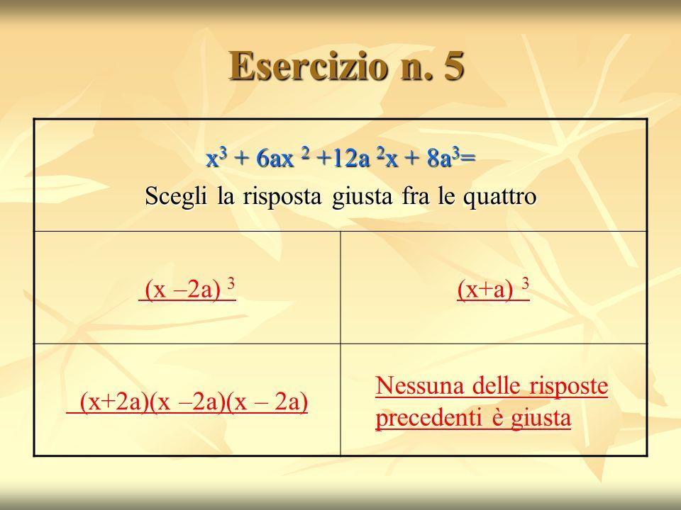 Esercizio n.5 Esercizio n.