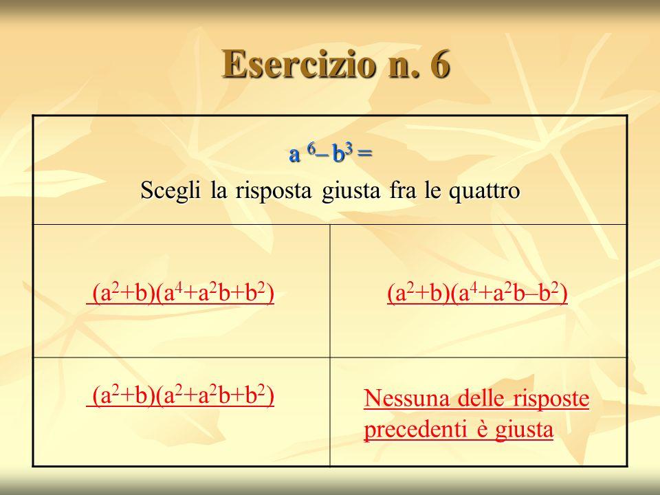 Esercizio n.6 Esercizio n.