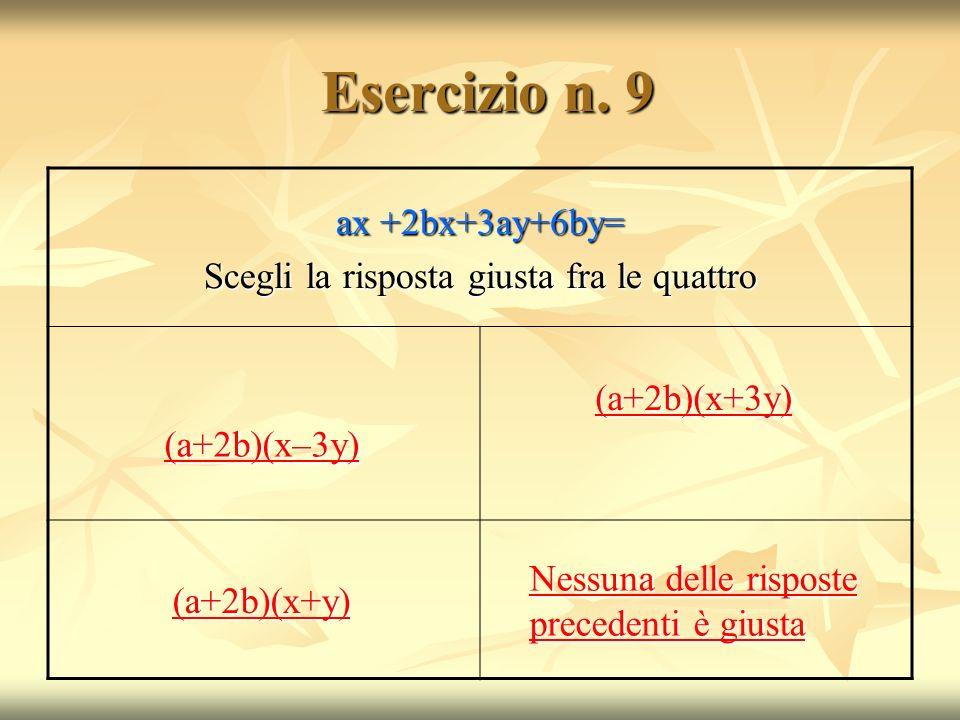 Esercizio n.9 Esercizio n.