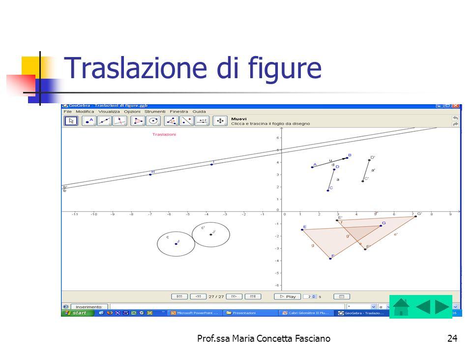 Prof.ssa Maria Concetta Fasciano24 Traslazione di figure