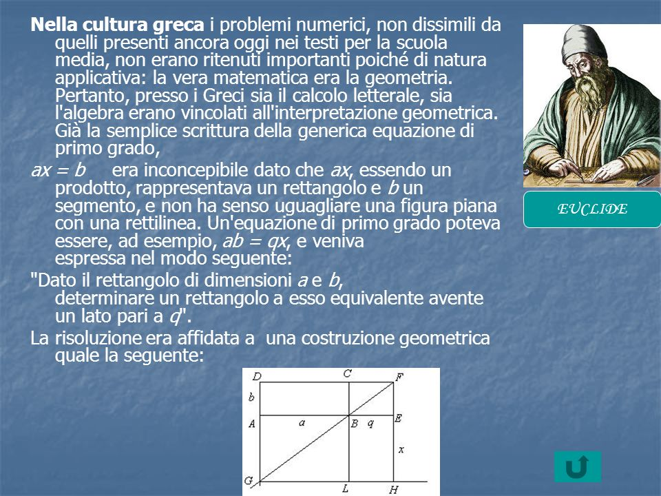 Nella cultura greca i problemi numerici, non dissimili da quelli presenti ancora oggi nei testi per la scuola media, non erano ritenuti importanti poi