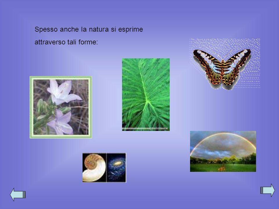Spesso anche la natura si esprime attraverso tali forme:
