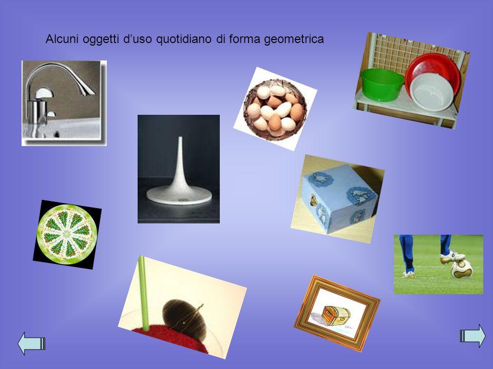 Alcuni oggetti duso quotidiano di forma geometrica