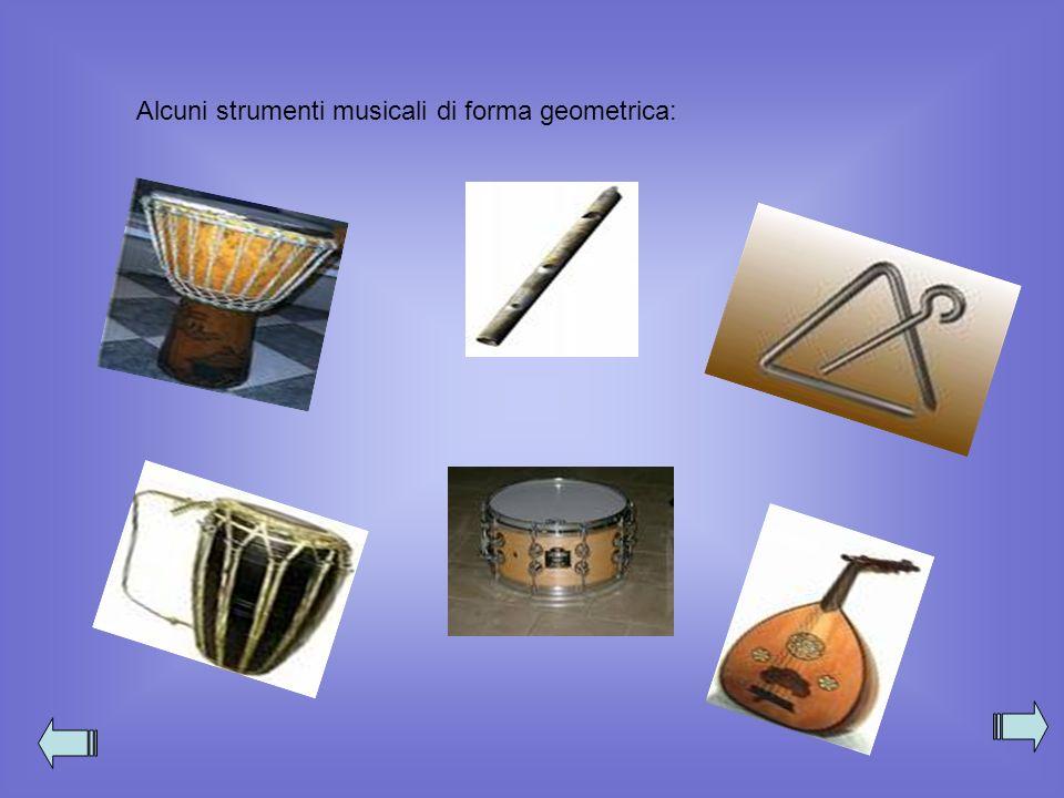 Alcuni strumenti musicali di forma geometrica: