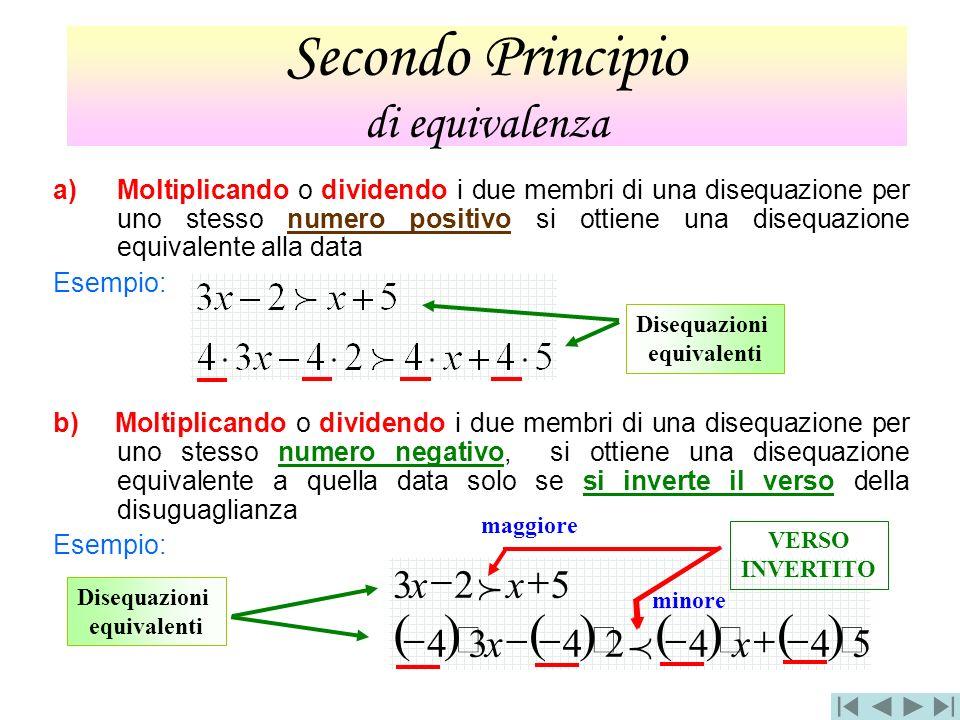 5442434 523 xx xx a)Moltiplicando o dividendo i due membri di una disequazione per uno stesso numero positivo si ottiene una disequazione equivalente