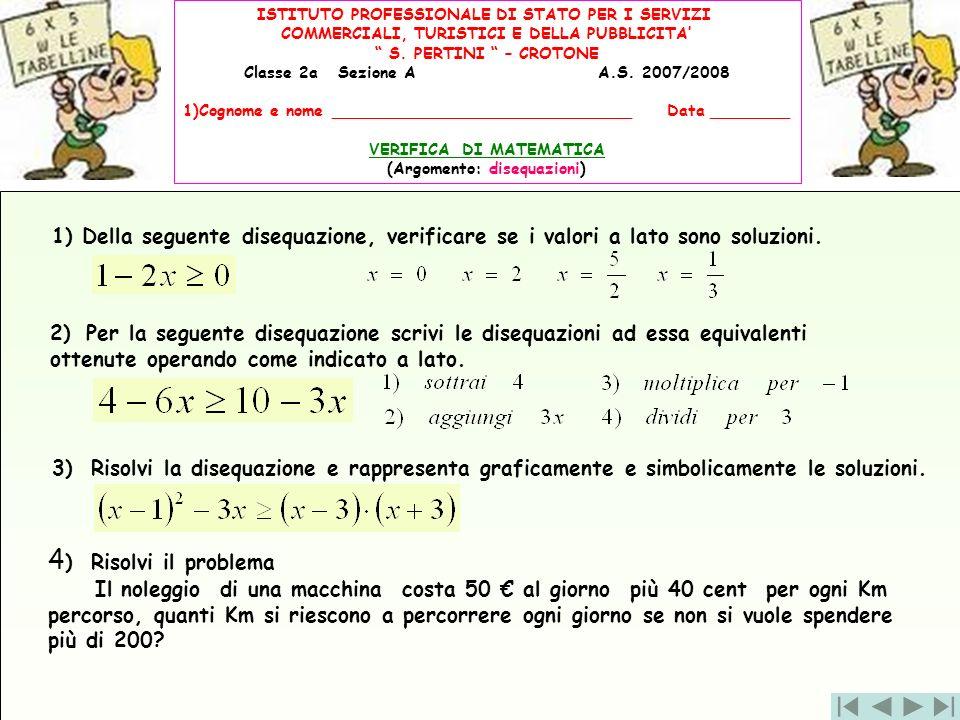 ISTITUTO PROFESSIONALE DI STATO PER I SERVIZI COMMERCIALI, TURISTICI E DELLA PUBBLICITA S. PERTINI – CROTONE Classe 2a Sezione A A.S. 2007/2008 1)Cogn