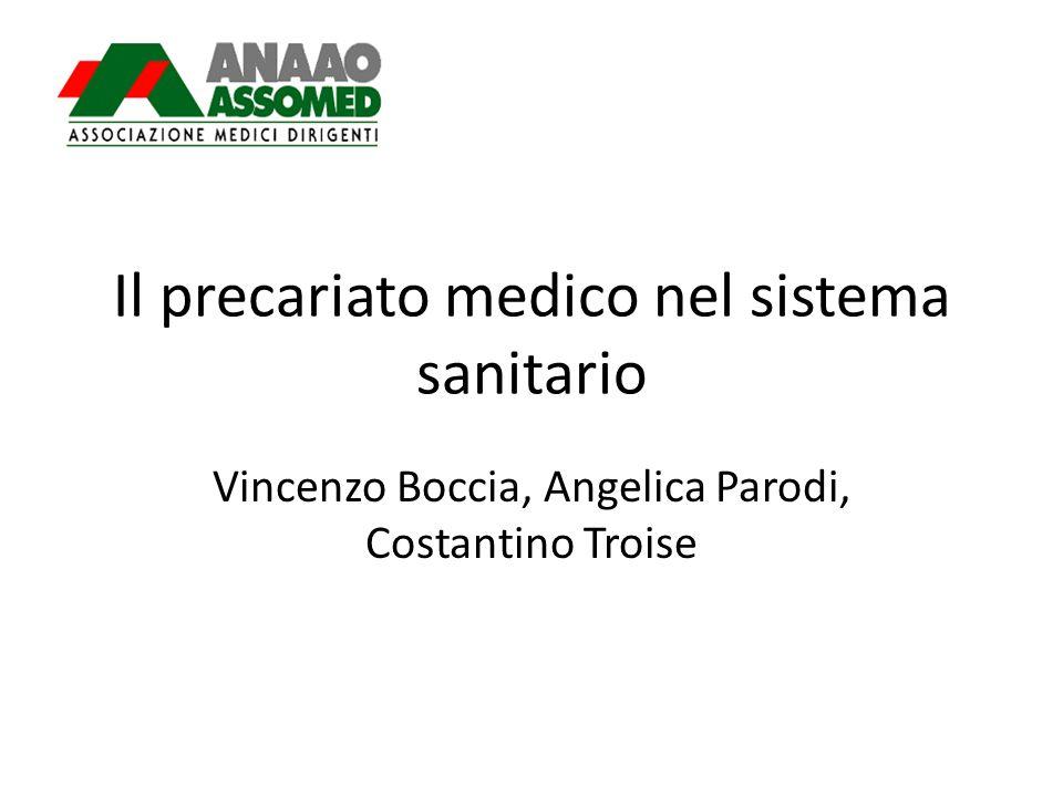 Il precariato medico nel sistema sanitario Vincenzo Boccia, Angelica Parodi, Costantino Troise