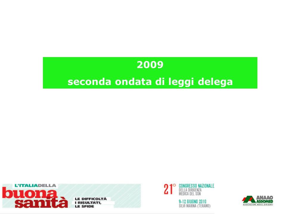 2009 seconda ondata di leggi delega