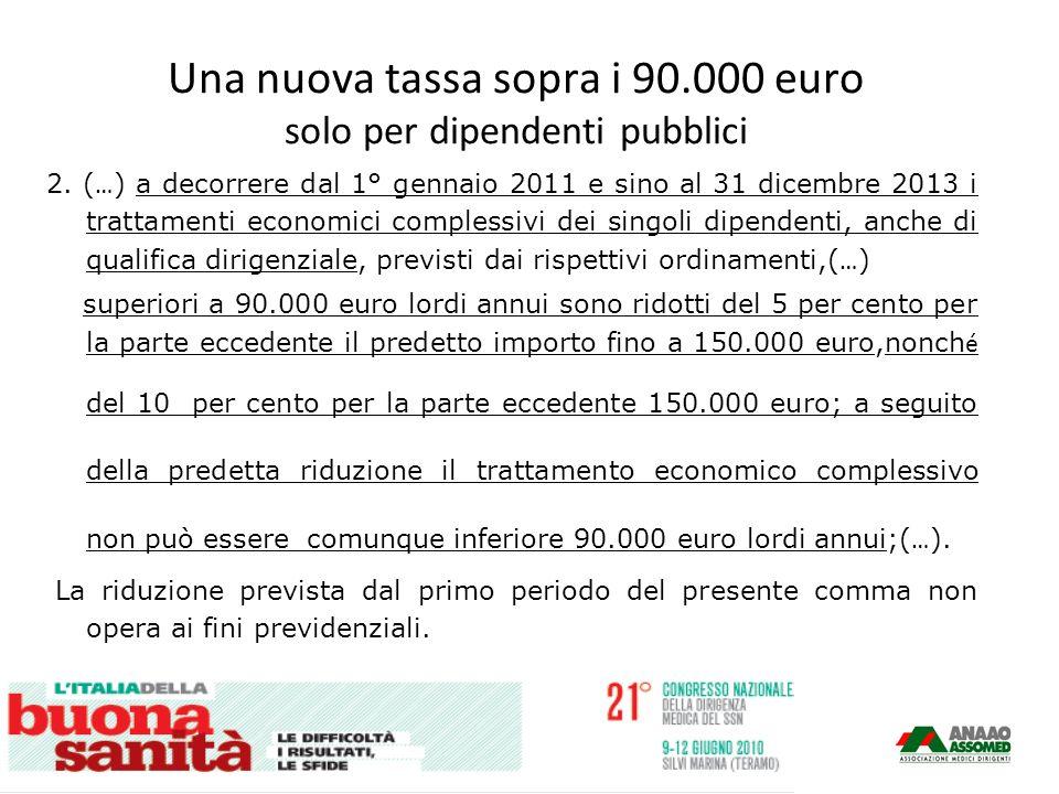 Una nuova tassa sopra i 90.000 euro solo per dipendenti pubblici 2.