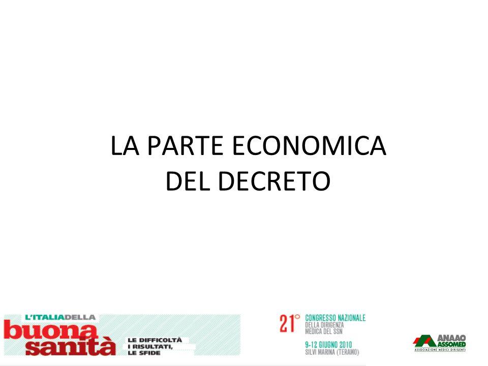 LA PARTE ECONOMICA DEL DECRETO