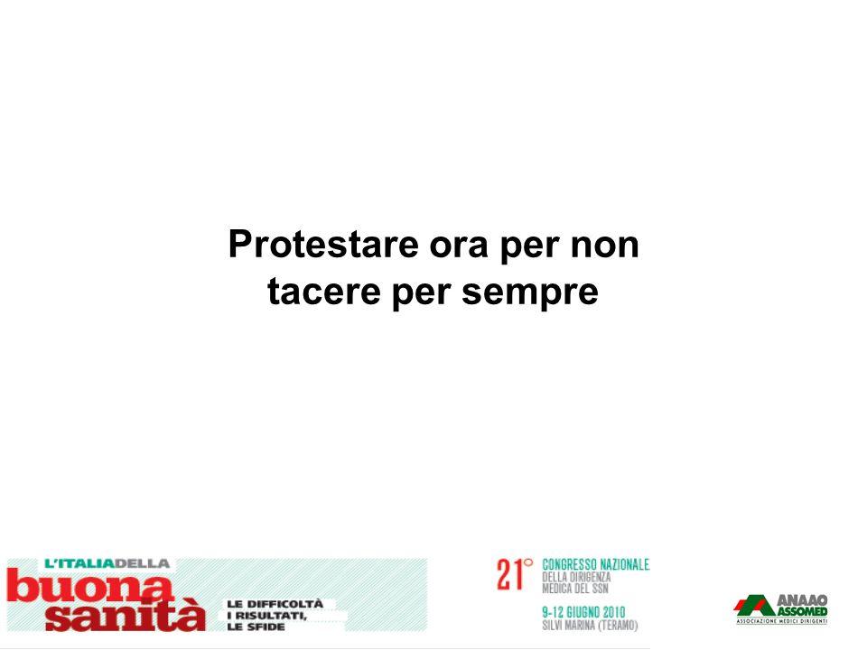 Protestare ora per non tacere per sempre