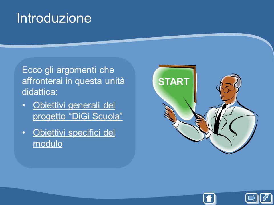 Introduzione Ecco gli argomenti che affronterai in questa unità didattica: Obiettivi generali del progetto DiGi ScuolaObiettivi generali del progetto