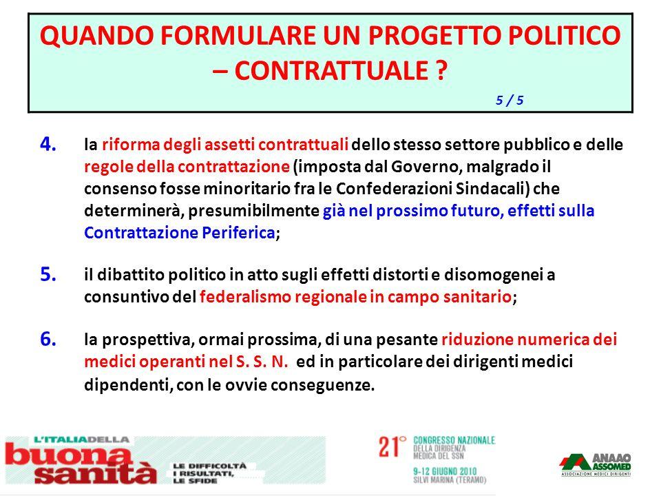 4. la riforma degli assetti contrattuali dello stesso settore pubblico e delle regole della contrattazione (imposta dal Governo, malgrado il consenso