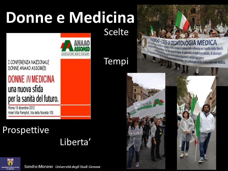 Donne e Medicina Scelte Tempi Prospettive Liberta Sandra Morano Università degli Studi Genova