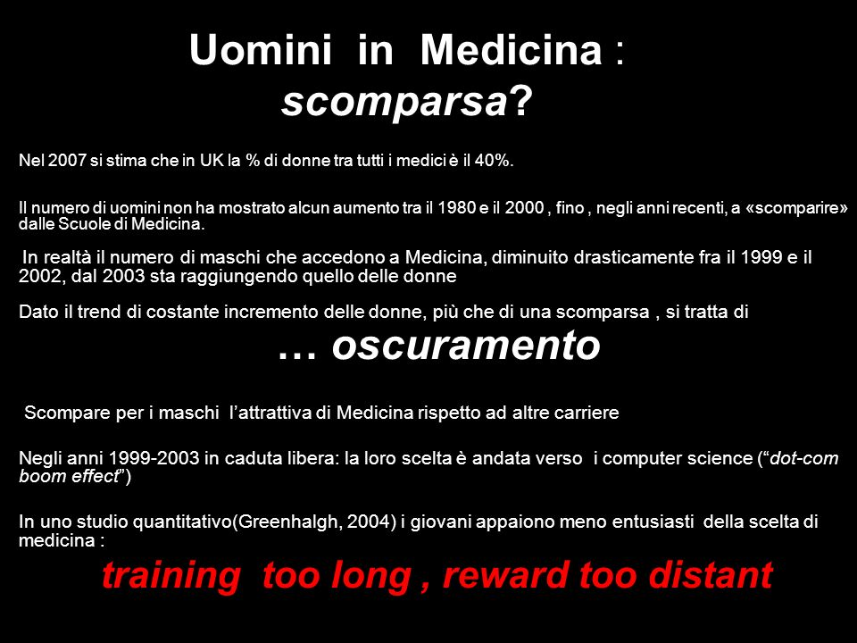 Uomini in Medicina : scomparsa.