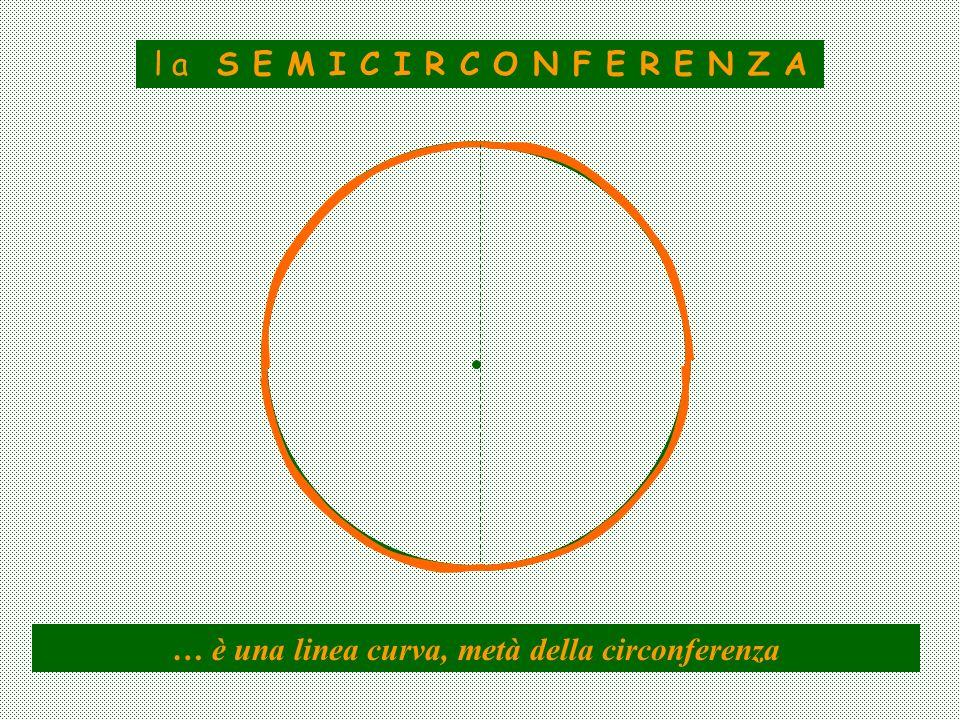l a S E M I C I R C O N F E R E N Z A … è una linea curva, metà della circonferenza