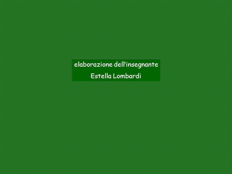 elaborazione dellinsegnante Estella Lombardi