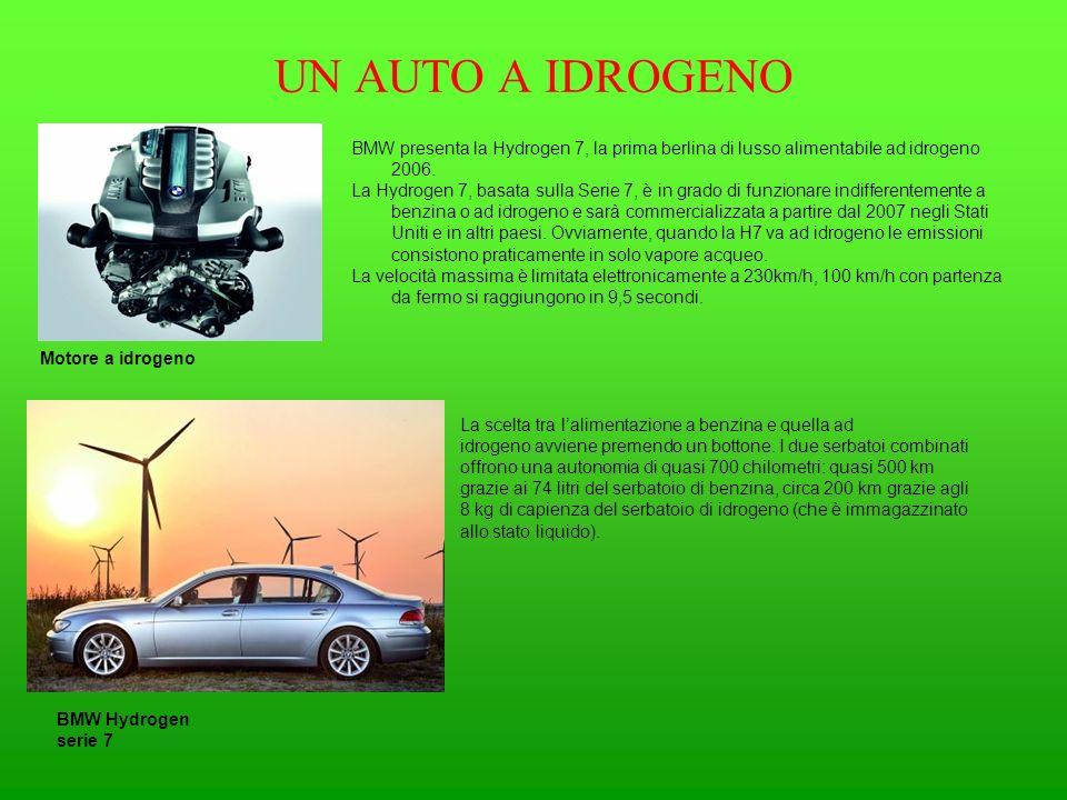 UN AUTO A IDROGENO BMW presenta la Hydrogen 7, la prima berlina di lusso alimentabile ad idrogeno 2006. La Hydrogen 7, basata sulla Serie 7, è in grad