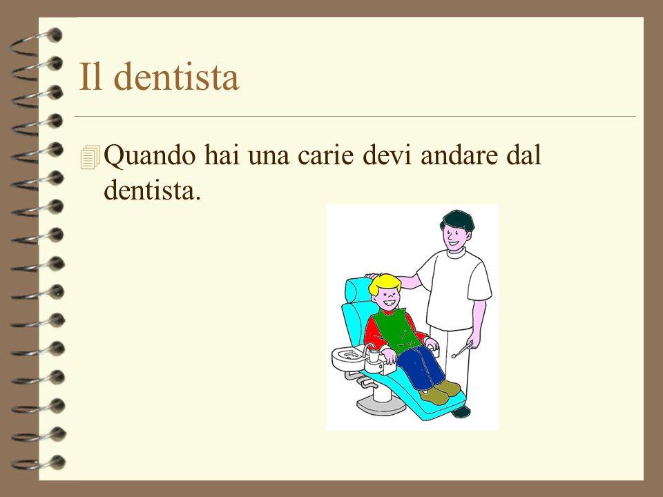 Il dentista 4 Quando hai una carie devi andare dal dentista.
