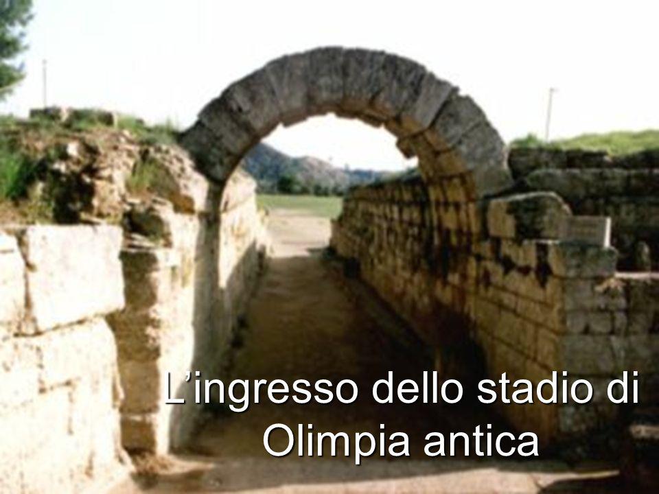 Lingresso dello stadio di Olimpia antica