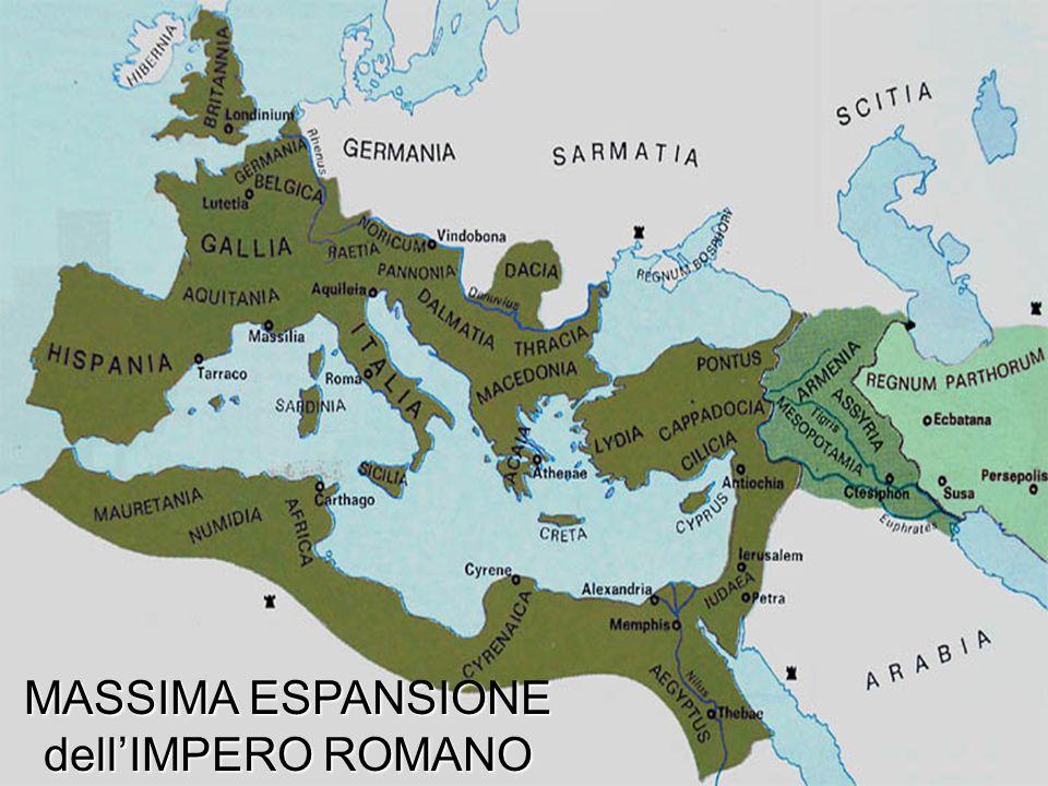 MASSIMA ESPANSIONE dellIMPERO ROMANO