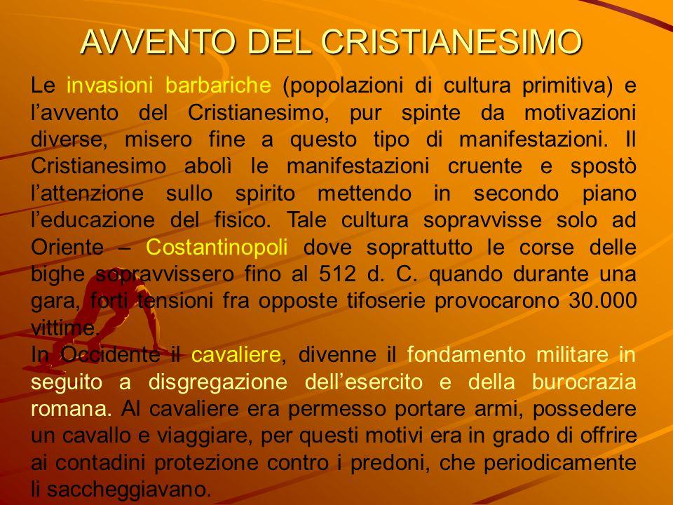 AVVENTO DEL CRISTIANESIMO Le invasioni barbariche (popolazioni di cultura primitiva) e lavvento del Cristianesimo, pur spinte da motivazioni diverse,