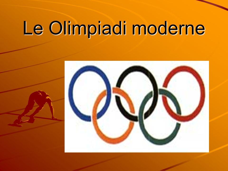 Le Olimpiadi moderne