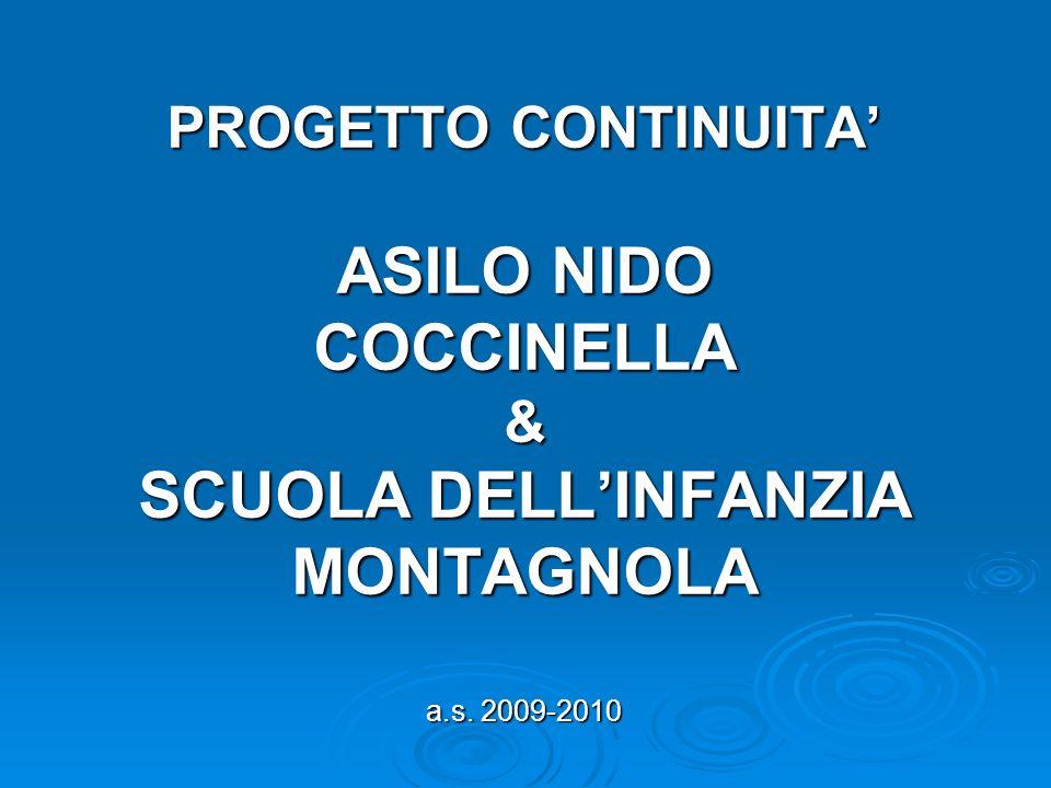 PROGETTO CONTINUITA ASILO NIDO COCCINELLA & SCUOLA DELLINFANZIA MONTAGNOLA a.s. 2009-2010