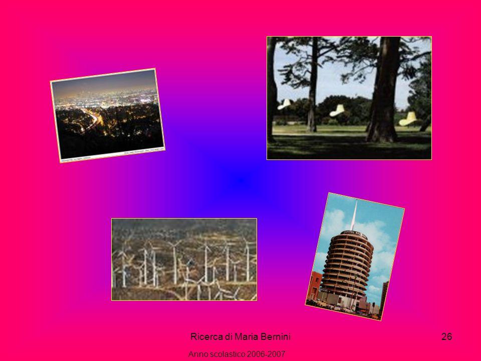 Ricerca di Maria Bernini26 Anno scolastico 2006-2007