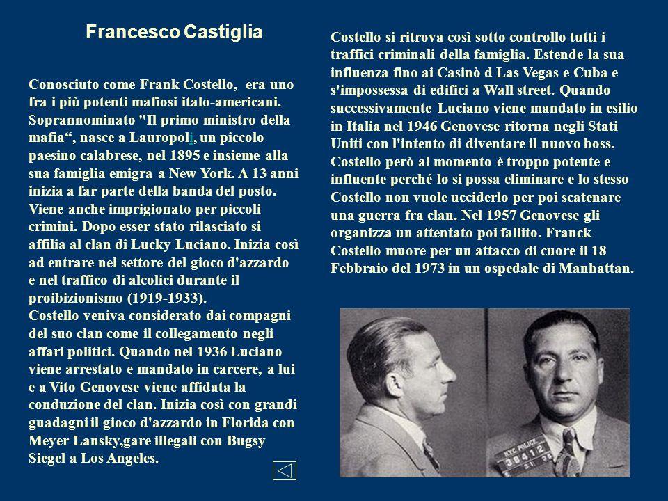 Conosciuto come Frank Costello, era uno fra i più potenti mafiosi italo-americani. Soprannominato