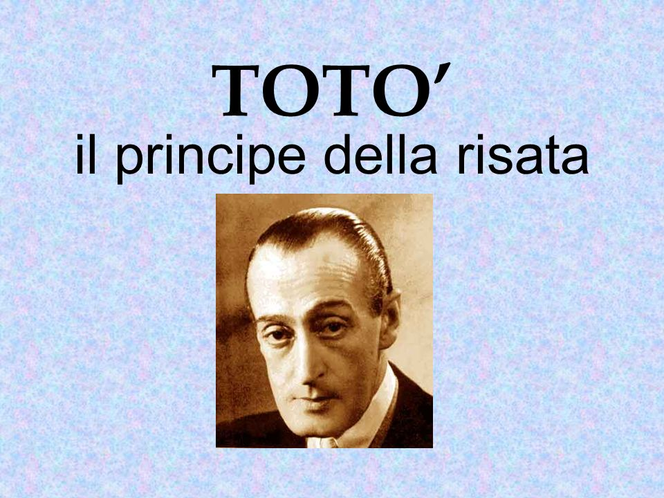 Antonio, in arte Totò, nasce nel 1898 a Napoli.