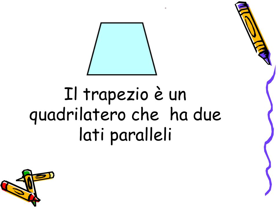 Il trapezio è un quadrilatero che ha due lati paralleli