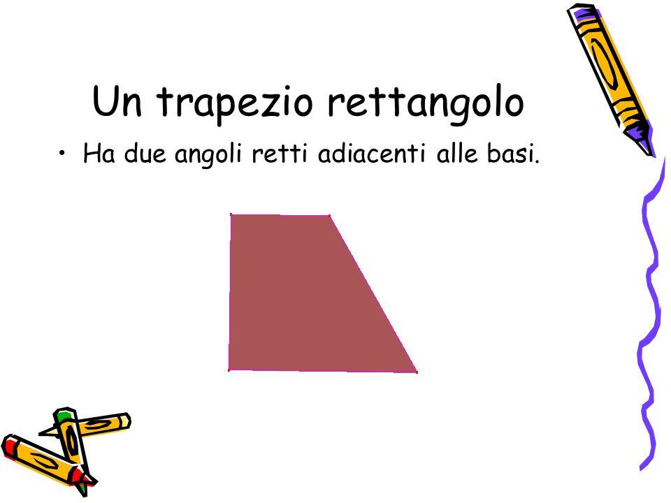 Un trapezio rettangolo Ha due angoli retti adiacenti alle basi.