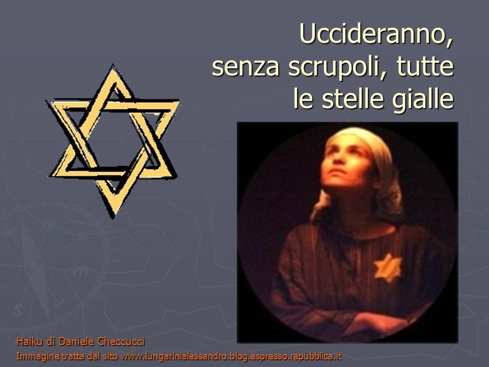 Uccideranno, senza scrupoli, tutte le stelle gialle Haiku di Daniele Checcucci Immagine tratta dal sito www.lungarinialessandro.blog.espresso.repubbli