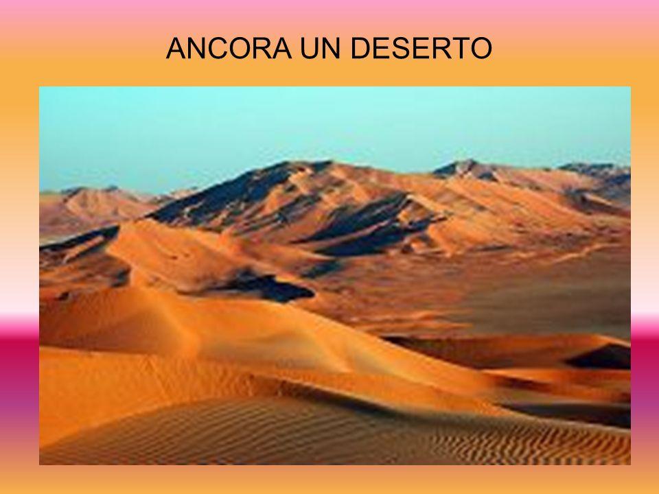 ANCORA UN DESERTO