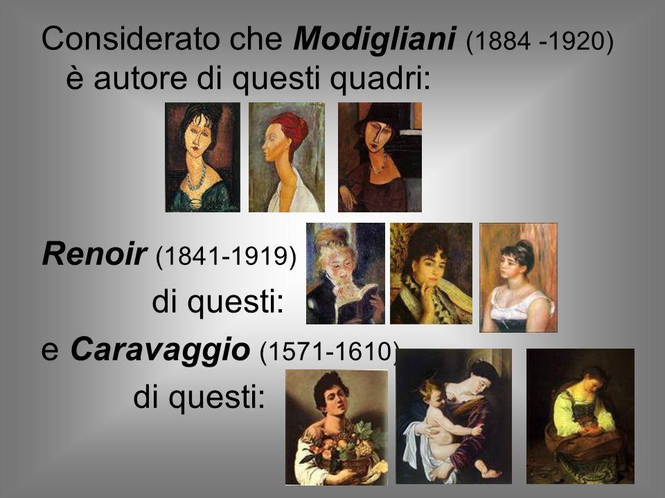 Saresti in grado di individuare gli autori dei quadri utilizzati precedentemente?