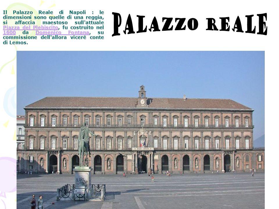 Il Palazzo Reale di Napoli : le dimensioni sono quelle di una reggia, si affaccia maestoso sull'attuale Piazza del Plebiscito, fu costruito nel 1600 d