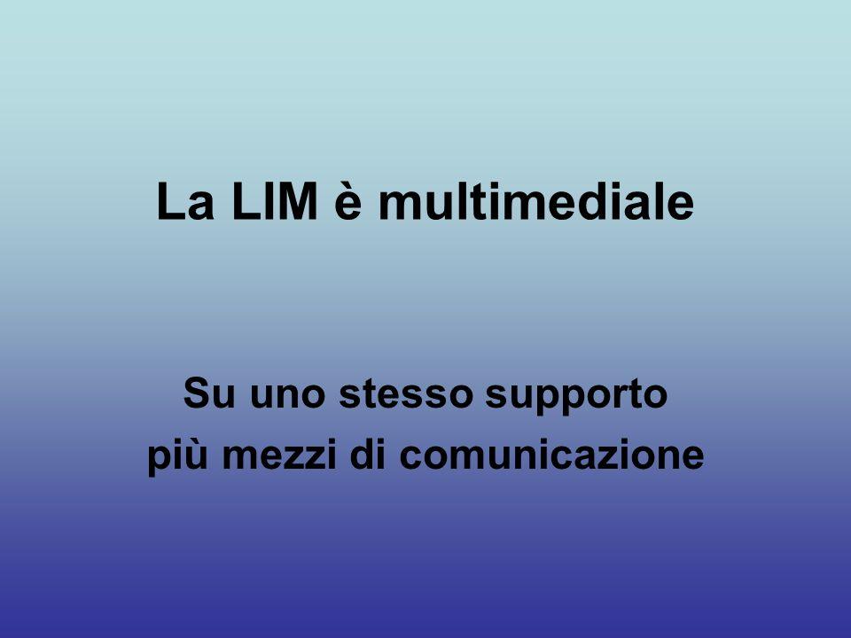 La LIM è interattiva Possiamo dare degli input che determinano variazioni nellinformazione