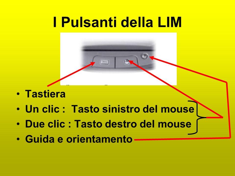 La LIM è collegata con un pc e con un proiettore