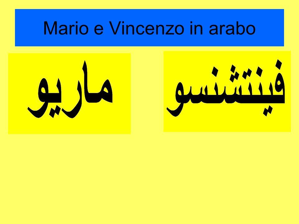 Mario e Vincenzo in arabo