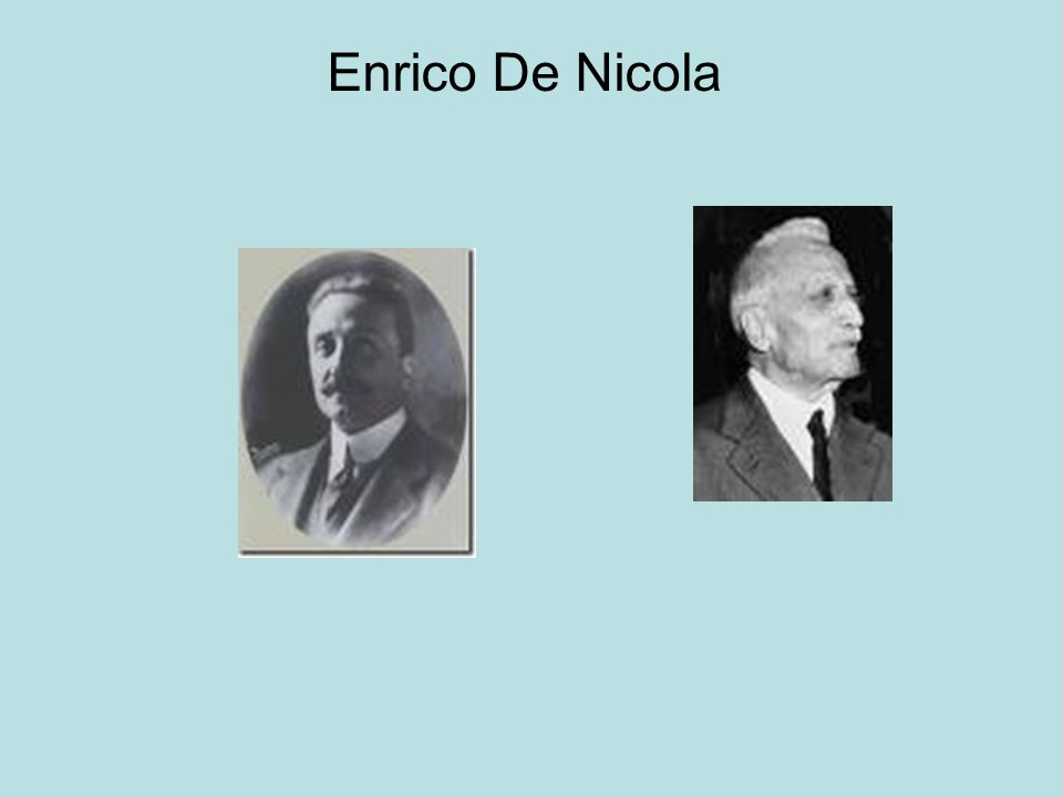 Enrico De Nicola