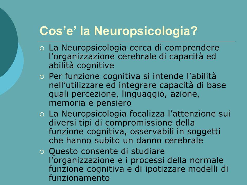 Cose la Neuropsicologia?
