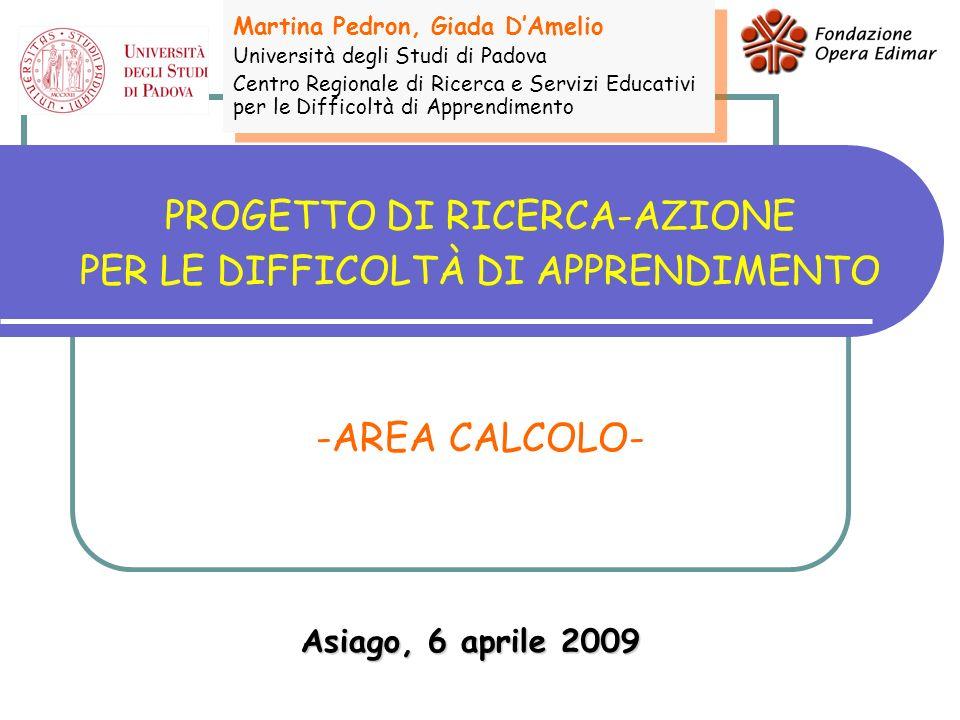 SETTEMBRE 2008 Introduzione Le difficoltà e i disturbi del CALCOLO - definizione - modello teorico - strumenti Il percorso di ricerca-azione - condivisione del percorso - presentazione delle prove collettive - confronto sugli aspetti metodologici e didattici