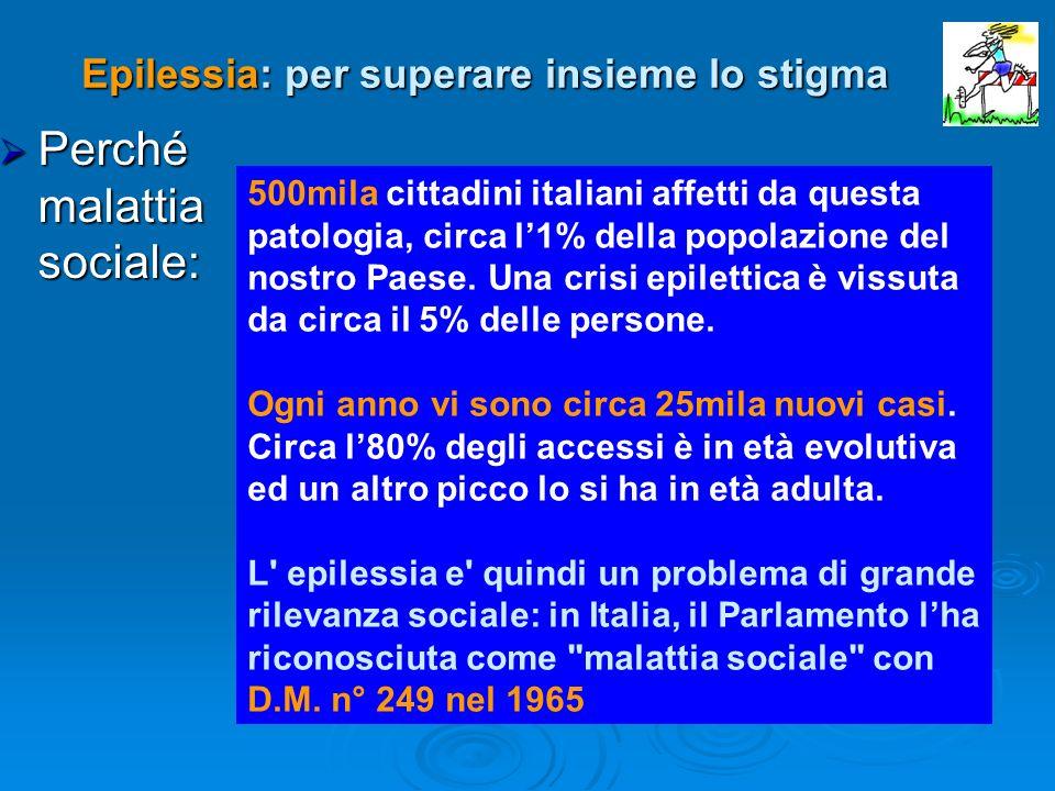 Perché malattia sociale: Perché malattia sociale: 500mila cittadini italiani affetti da questa patologia, circa l1% della popolazione del nostro Paese